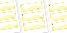 Pineapple Themed Editable Drawer-Peg-Name Labels (Colourful)