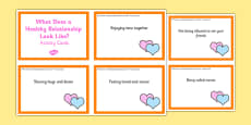 What Does a Healthy Relationship Look Like? Activity Cards
