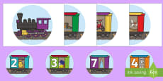 Toy Train Number Display