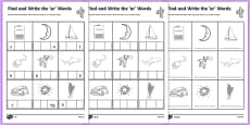 Find and Write the ar Words Differentiated Activity Sheet Pack