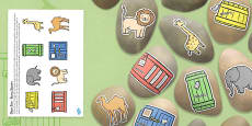 Story Stones Image Cut Outs to Support Teaching on Dear Zoo