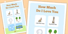 How Much Do I Love You? Vocabulary Poster