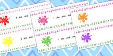 Splat Alphabet Strips