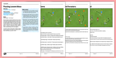 LKS2 Football Skills 2: Passing Lesson Pack