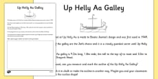 Up Helly Aa Galley Dimensions Activity