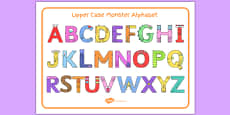 Upper Case Monster Alphabet Image Mat