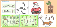 Story Sack Resource Pack to Support Teaching on Stick Man