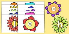 Alphabet on Flowers