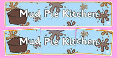Mud Pie Kitchen Role Play Banner