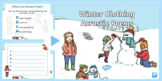 Winter Clothing Acrostic Poems PowerPoint