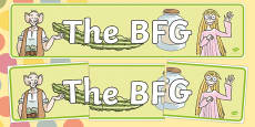 Display Banner to Support Teaching on The BFG