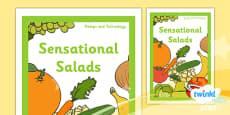 PlanIt - D&T KS1 - Sensational Salads Unit Book Cover