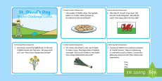 St David's Day Maths Challenge Cards