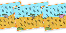Safari Themed Word Mats KS1