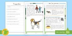 * NEW * Comprensión lector: Los perros