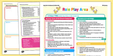 Role Play Area Continuous Provision Plan Posters Nursery FS1