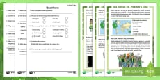 KS1 St. Patrick's Day Differentiated Reading Comprehension Activity