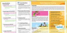 PlanIt - D&T UKS2 - Super Seasonal Cooking Planning Overview CfE