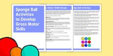 Sponge Ball Gross Motor Skills Activities