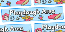Playdough Area Display Banner