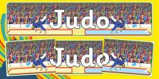 Rio 2016 Olympics Judo Display Banner