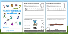Number Formation Workbook (Minibeasts)