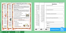 KS1 Eid al-Fitr Differentiated Comprehension Go Respond  Activity Sheets