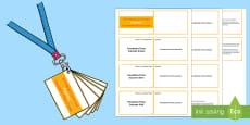 * NEW * Lanyard Sized  Foundation Phase Profile Fractions Skills Ladder Cards