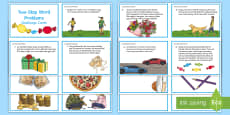 * NEW * Two-Step Word Problems Challenge Cards