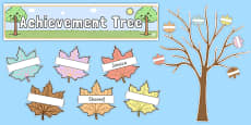Ready Made Achievement Tree Display Pack Neutral Colours