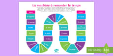 Present Tense to Past Tense French Verbs Board Game