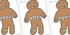 KS1 Keywords on Gingerbread Men