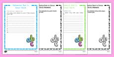 Back to School Alphabet Ordering Activity Sheet USA