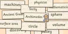 Archimedes Word Cards