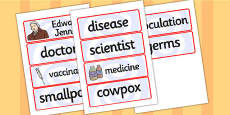 Edward Jenner Word Cards