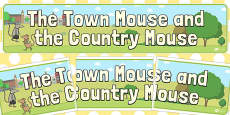 The Town Mouse and the Country Mouse Display Banner