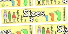 Sizes Display Banner