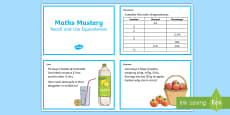 Year 6 Fractions Recall and Use Equivalences Maths Mastery Activities Challenge Cards