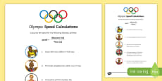 Speed Calculations Olympic Science