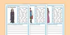 Character Description Writing Frames