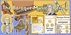 Baroque Period Music Display Pack