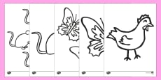 African Hen Story Colouring Sheets