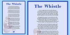 Charles Murray The Whistle Poem A4