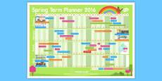 Spring Term 2016 Calendar Planner