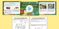 British Food Fortnight Scottish Foods PowerPoint and Activity Sheets Pack