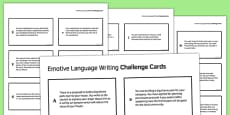 Emotive Language Writing Challenge Cards