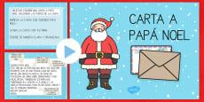 Presentación: La carta a Papa Noel