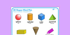 3D Shape Word Mat Polish Translation