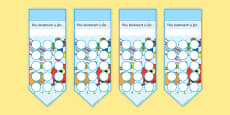 Numeracy Themed Sticker Reward Bookmarks 15mm
