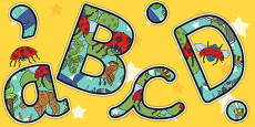 Themed Display Lettering to Support Teaching on The Bad Tempered Ladybird